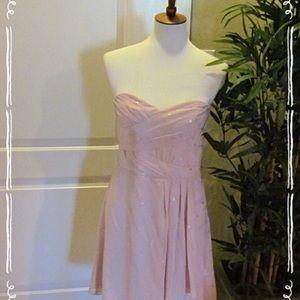 Express Strapless Chiffon Dress, Sz 8